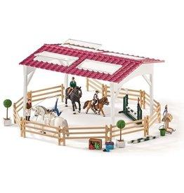 Schleich Schleich Horse Club 42389 Ruiterschool met Ruiter en Paarden