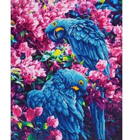 Diamond Dotz Diamond Dotz Blue Parrots  52x42cm