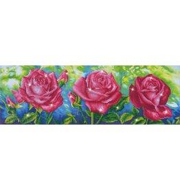 Diamond Dotz Diamond Dotz:  Les Roses du Jardin 82x27cm