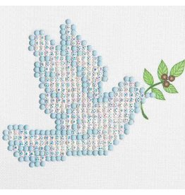 Diamond Dotz Diamond Dotz Dove Of Peace  10 X 10 cm