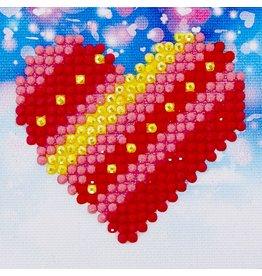 Diamond Dotz Diamond Dotz Patchwork Heart  7 X 7 cm
