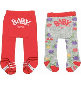 Zapf Baby Born Maillot Trend 2-Pack: Rood/Grijs