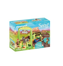 Playmobil Playmobil Spirit 70120 Paardenbox  met Snips en Senor Carrots