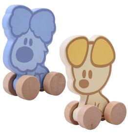 Rubo Toys Houten Figuur Op Wielen - Woezel of Pip