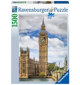 Ravensburger Ravensburger puzzel 160099  Grappige kat op de Big Ben 1500 stukjes