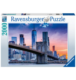 Ravensburger Ravensburger puzzel 160112 Van Brooklyn naar Manhatten  2000 stukjes