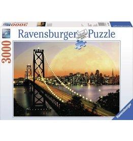 Ravensburger Ravensburger puzzel  170395  San Francisco  bij nacht 3000 stukjes