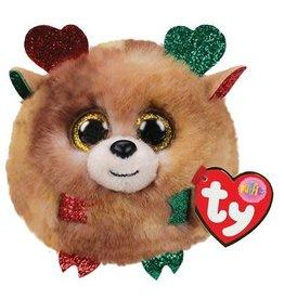 Ty Ty Teeny Puffies Kerst Fudge het Rendier 10cm