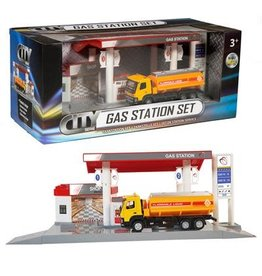 City City Tankstation met tankwagen - diecast