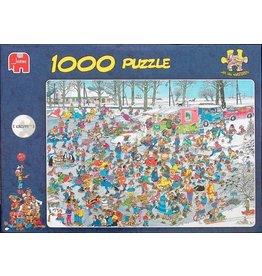Jumbo Jumbo  puzzel Jan van Haasteren Op glad IJs 1000 stukjes