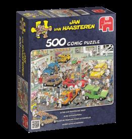 Jumbo Jumbo puzzel Jan van Haasteren In de autospuiterij 500 stukjes