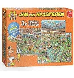 Jumbo Jumbo puzzel Jan vanHaasteren 19004 WK Voetbal  3in1 Nederland 1000 +750+500stukjes