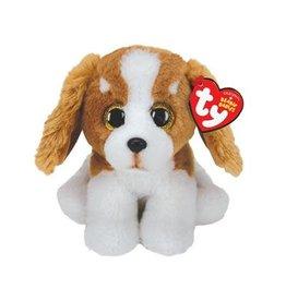 Ty Ty Beanie Babies Barker Basset de Bruin/Witte Hond 15 cm