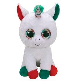 Ty Ty Beanie Boo's XL Kerst Candy Cane de Witte Eenhoorn 42cm