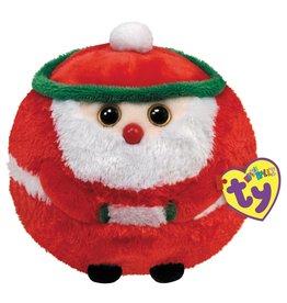 Ty Ty Beanie Ballz Kerst Kringle de Kerstman 12cm