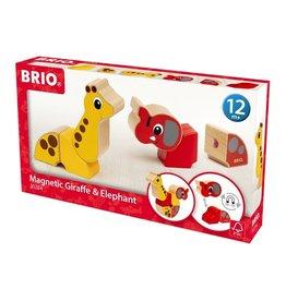 Brio Brio 30284 Magnetische Giraf en Olifant - Magnetic Giraffe and Elephant
