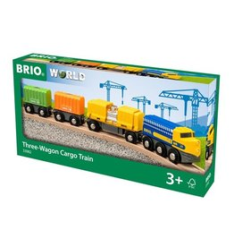 Brio Brio World 33982 Vrachttrein met 3 Wagons - Three -Wagon Cargo Train