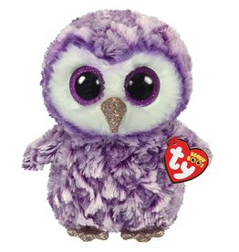 Ty Ty Beanie Buddy Moonlight de Paarse Uil 24cm