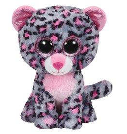 Ty Ty Beanie Buddy Tasha het Grijs/Roze Luipaard 24cm