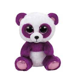 Ty Ty Beany Boo's Boom Boom  de Paars/Witte Pandabeer 15cm