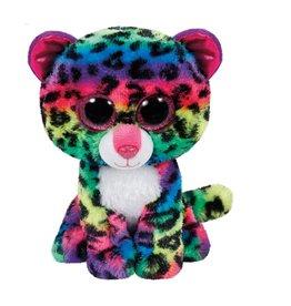 Ty Ty Beanie Boo's Dotty het Regenboog Luipaard 15cm