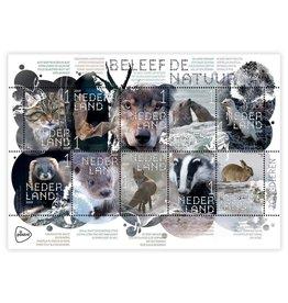PostNL Postzegel vel 10stuks Nr 1Zoogdieren - Beleef De Natuur