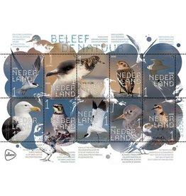 PostNL Postzegel vel 10 stuks NR 1 Kustvogels - Beleef de natuur