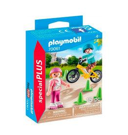 Playmobil Playmobil Special Plus 70061 Kinderen met Fiets en Skates