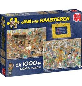 Jumbo Jumbo Puzzel Jan vanHaasteren 20032 Museum Bezoek 2 x 1000 stukjes