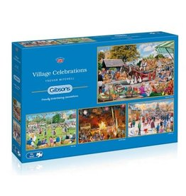 Gibsons Gibsons puzzel G5051 Village Celebrations 4x500 stukjes