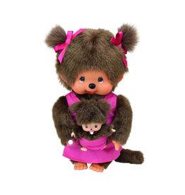 Monchhichi Monchhichi Moeder met Baby Roze 20cm