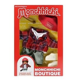 Monchhichi Monchhichi Boutique Geruit Shirt met Broek