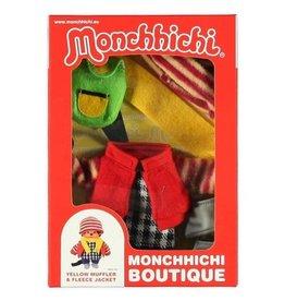 Monchhichi Monchhichi Boutique  Fleecejack Rood met Gele Sjaal