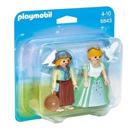 Playmobil Playmobil Duopack 6843 Prinses en Dienstmeisje