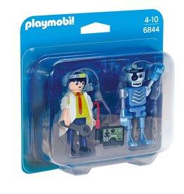 Playmobil Playmobil Duopack 6844 Uitvinder en Robot