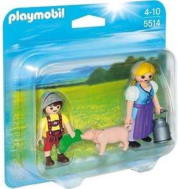 Playmobil Playmobil Duopack 5514 Boerin en Zoon