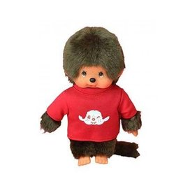 Monchhichi Monchhichi  Jongen met Rood T-Shirt 20 cm
