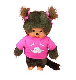 Monchhichi Monchhichi Meisje met Roze T-Shirt 20 cm