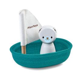 Plan Toys Plan Toys Sailing Boat Polar Bear - Zeilboot Ijsbeer