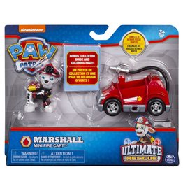 Spinmaster Paw Patrol Mini Vehicle Ultimate Rescue - Marshall Mini Fire Cart
