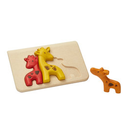Plan Toys Plan Toys Giraffe Puzzle - Houten Puzzel Giraffen