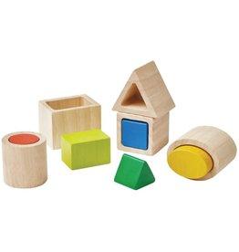 Plan Toys Plan Toys Geo Matching Blocks - Geo Vormen