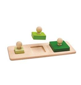 Plan Toys Plan Toys Square Matching Puzzle - Vierkant Vormen Puzzel