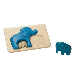 Plan Toys Plan Toys Elephant Puzzle - Houten Puzzel Olifanten