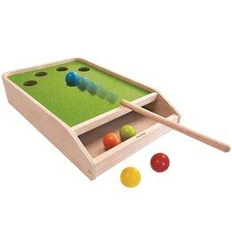 Plan Toys Plan Toys Ball Shoot Board Game - Houten Biljart Spel