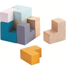 Plan Toys Plan Toys 3D Puzzle Cube - Houten 3D Puzzel in Blikje