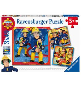 Ravensburger Ravensburger puzzel Brandweerman Sam: Onze Held Sam 3X49 stukjes