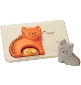 Plan Toys Plan Toys Cat Puzzle - Poezen Puzzel
