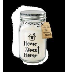 Paper Dreams Black & White Geurkaars - Home sweet home
