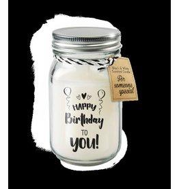 Paper Dreams Black & White Geurkaars - Happy birthday